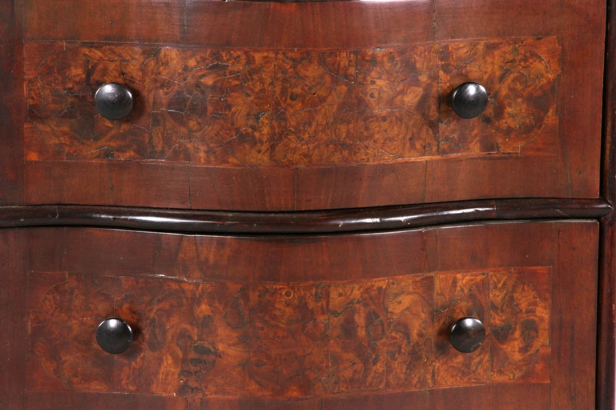C1725 Italian Walnut 3-Drawer Chest
