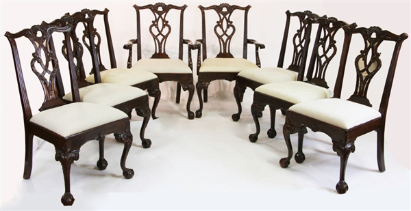 (8) Henredon Chippendale Style Dining Chairs