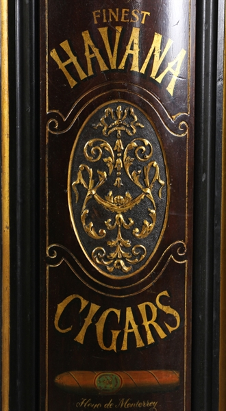 Early 20thC Robert Lewis Cigar Store Mahogany Sign