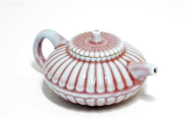 Very Rare Chinese Chrysanthemum Teapot