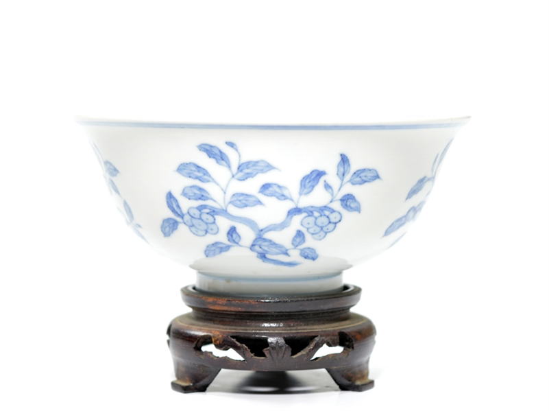 Rare Chinese Blue and White Porcelain Palace Bowl