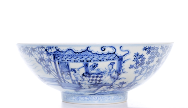 Fine Blue and White Chinese Porcelain Bowl
