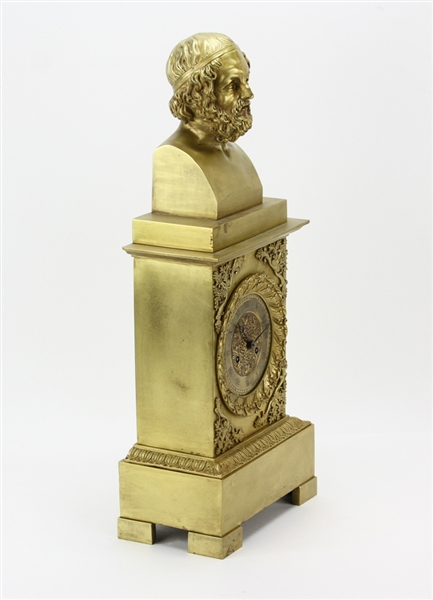 19th C French Empire Bronze Clock