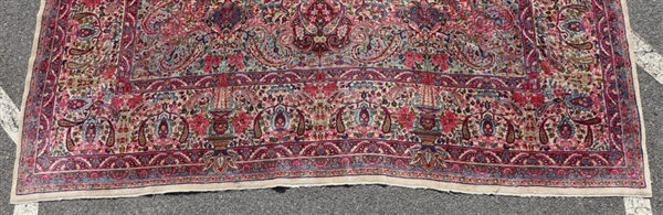 Antique Persian Lavar Kerman Rug