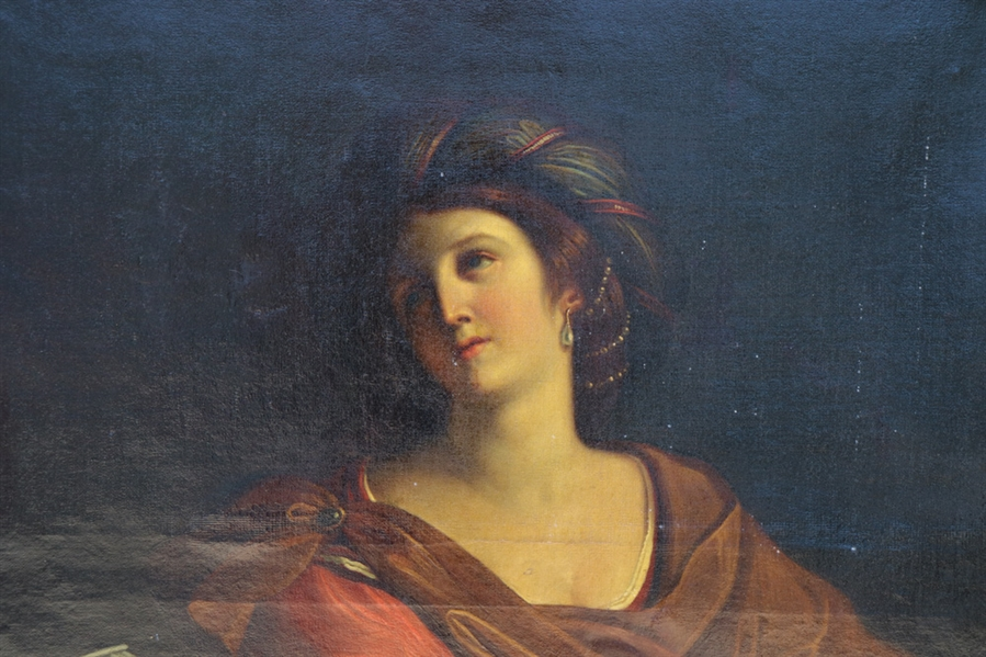19thC After Guercino, The Samian Sibyl, Oil on Canvas