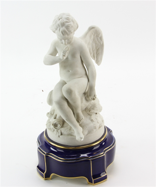 19thC Sevres Parian Porcelain Angel Figure