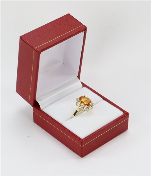 14k Golden Sapphire and Diamond Ring