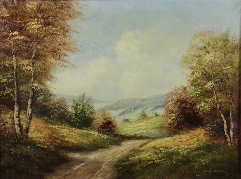 Ernest Albert, Road Through Rolling Hills, Oil on Canvas