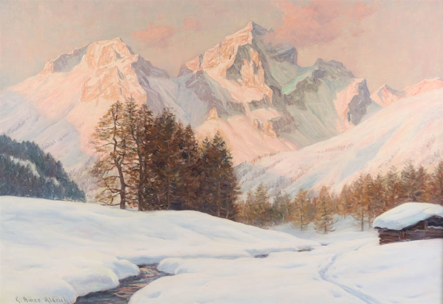 George Ames Aldrich, Mountain Snow Scene