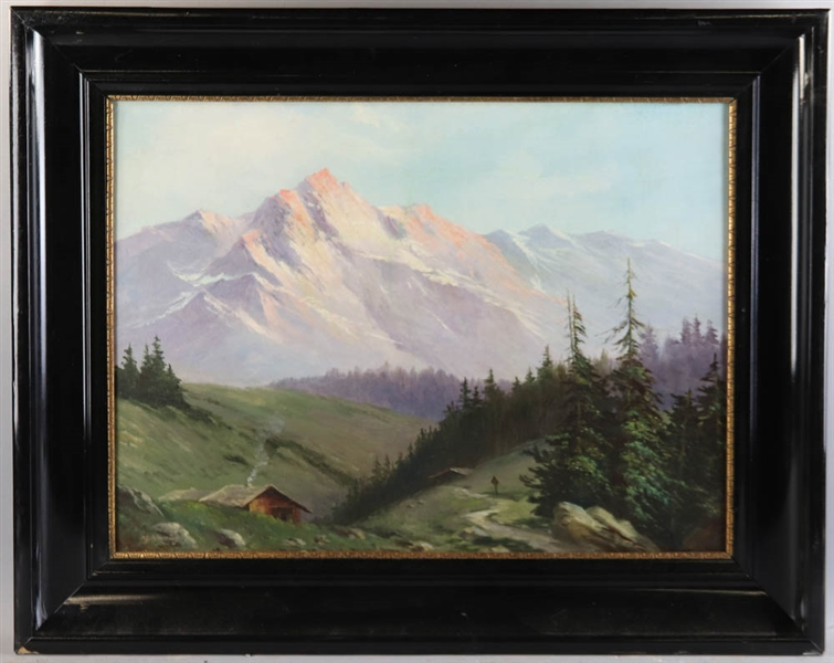 John Ferry, Mountainous Landscape, Oil on Canvas