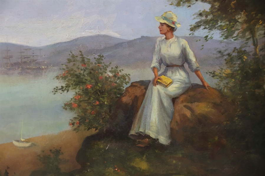 Lawson Parker, Sitting Lady, Oil on Canvas