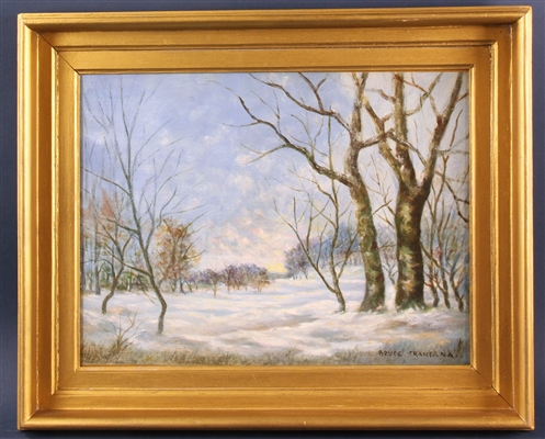 In the Manner of Bruce Crane, Winter Forest Landscape