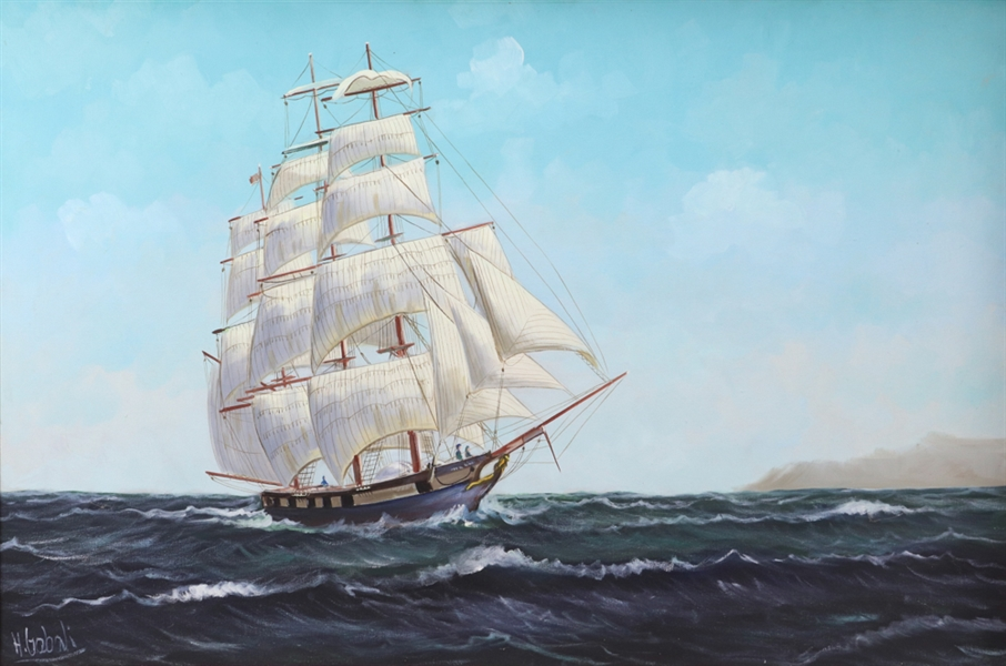 Hans Gabali, Clippership, Oil on Canvas