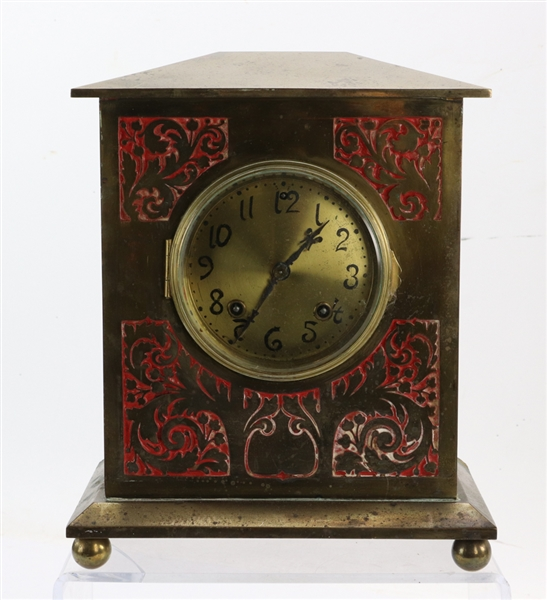 19th/20thC Bronze Mantel Clock