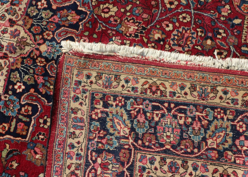 Antique Persian Kashan Meshad Rug
