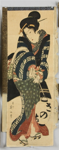 (5) Japanese Woodblock Prints by Esin