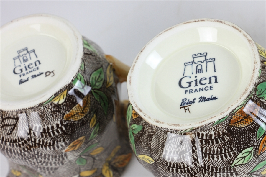 Gien, France Hand Painted China, Rambouillet Pattern