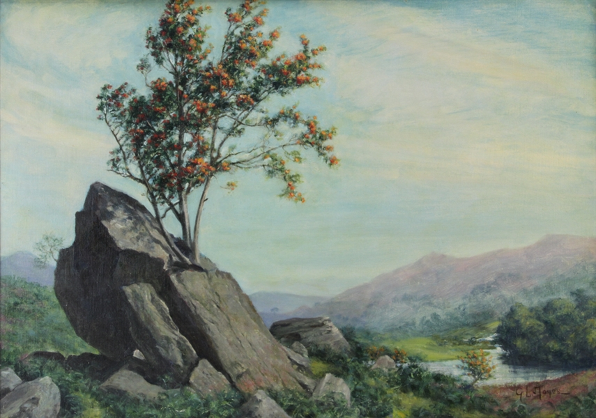George L. Noyes, The Valley, Oil on Canvas