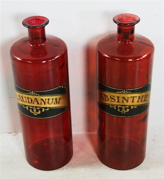 Two Large Apothecary Jars