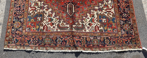 Antique Persian Center Medallion Heriz Rug
