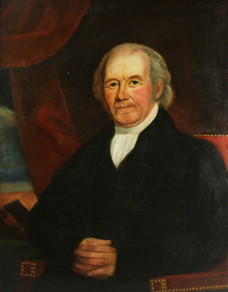 American Portrait of Minister, Oil on Canvas