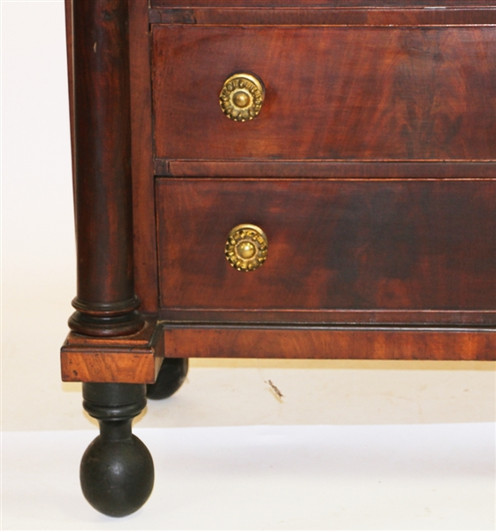 Salem Mahogany Chest with Carved Design