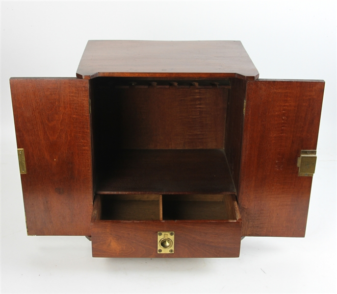 Diminutive Mahogany Two Door Cabinet