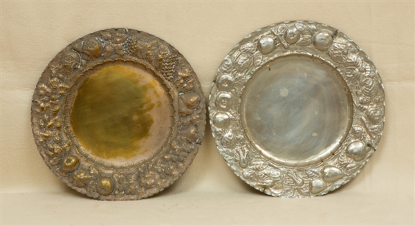 Two Renaissance Style Silverplated Dishes