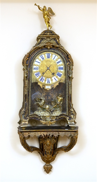 Louis XIV Boulle Marquetry Cartel Clock