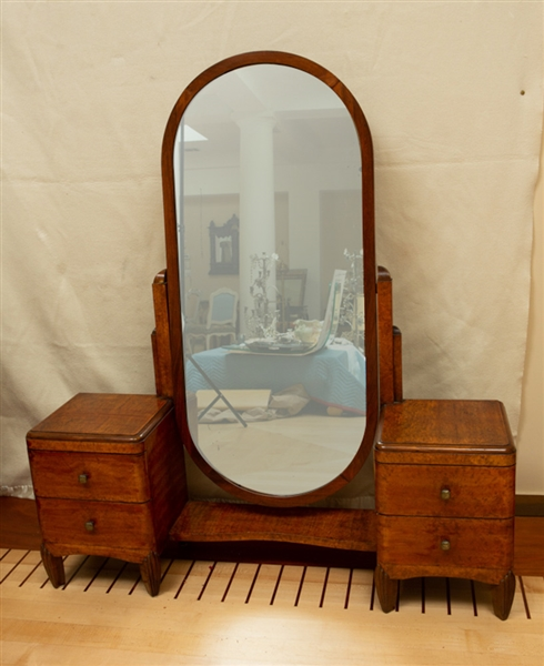 Art Deco Coiffeuse with Large Mirror