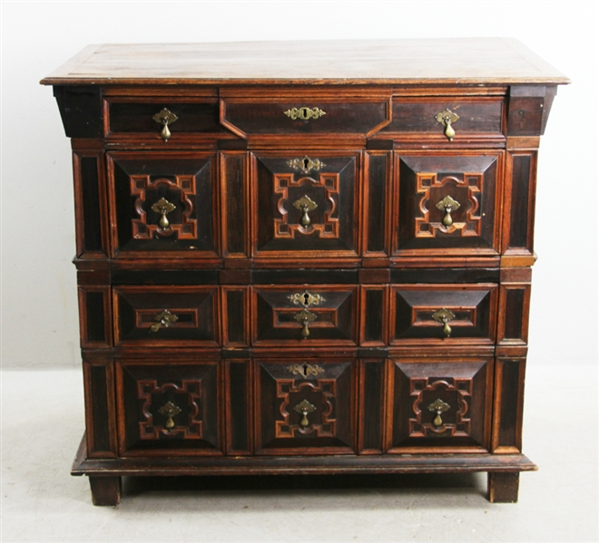 English William and Mary Period Oak Chest