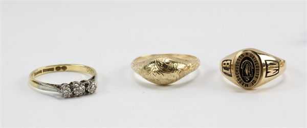 Assortment of Gold and Platinum Jewelry