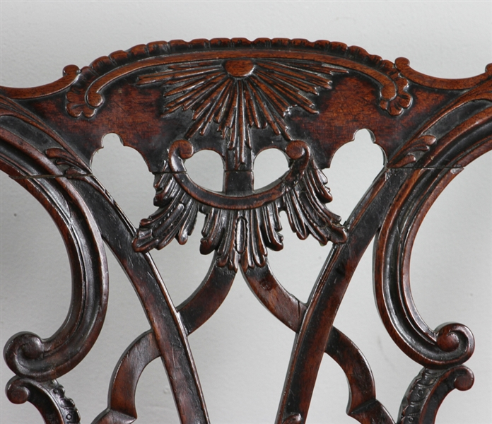Pair of Fine 18thC George III Mahogany Side Chairs