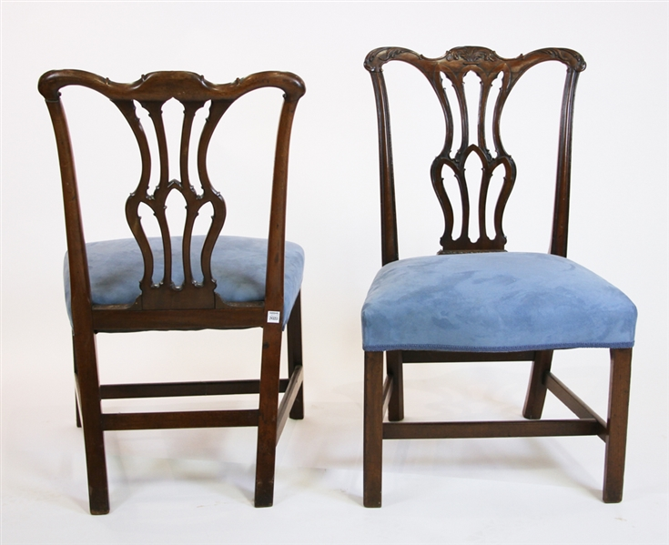 Pair of Fine George III Mahogany Side Chairs