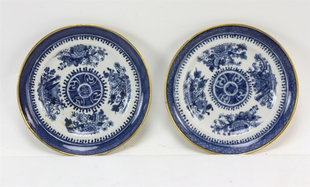 Early Chinese Export Plates with Charger