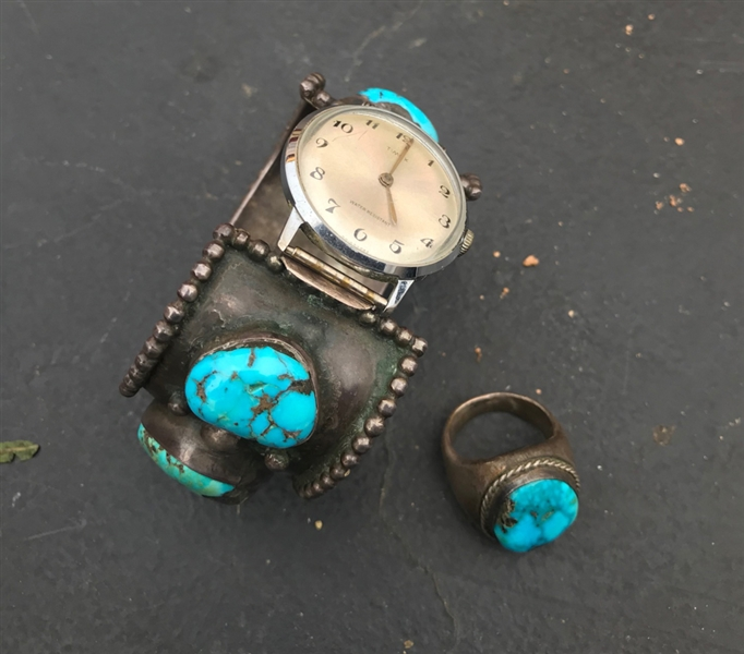 Native American Pawn Watch, Bracelet and Ring