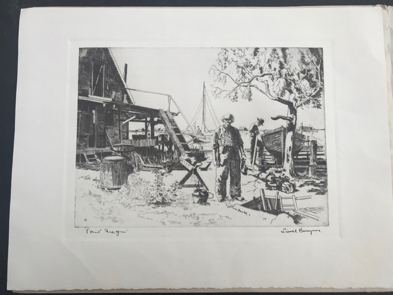 Four Etchings and Prints, Various Artists