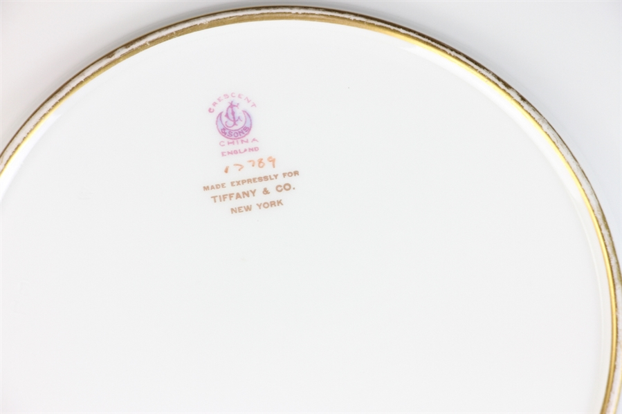 Tiffany English Crescent China Dinner Plates