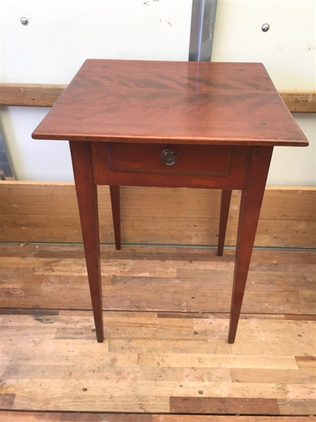 Early 19thC Connecticut Cherry Single Drawer Stand