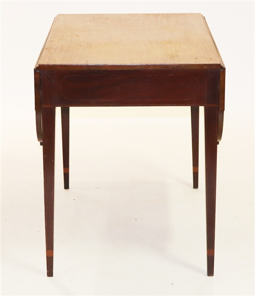 Large Federal Ovolo Cornered Pembroke Table