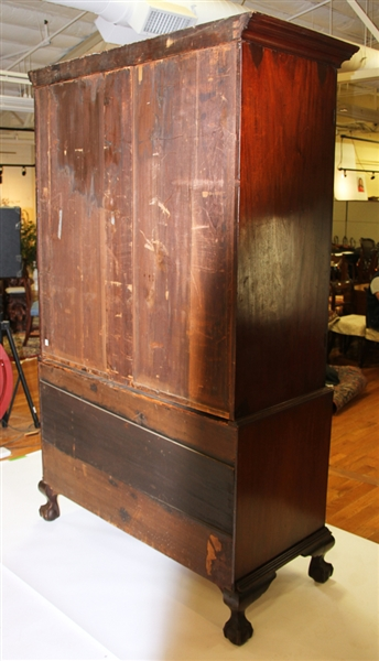Chippendale Carved Mahogany Linen Press