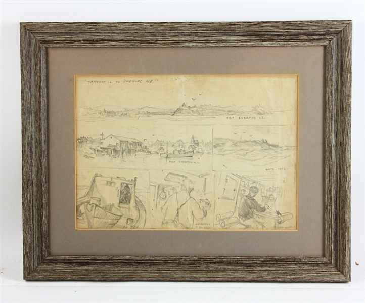 Jack L. Gray, Signed Pencil Drawings