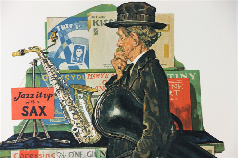 Norman Rockwell, Jazz It Up, Colore Lithograph