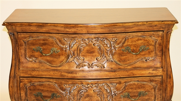 French Style Carved Bombay Front Chest