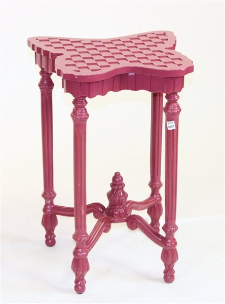 MacKenzie-Childs Pink Painted Butterfly Table