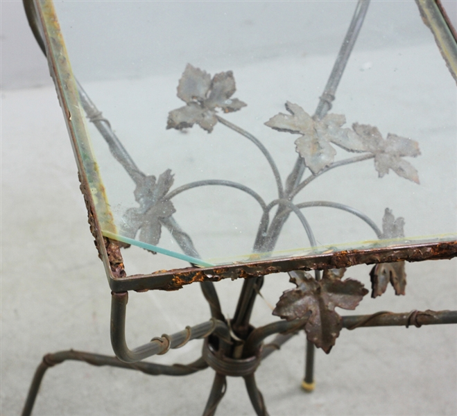 Three Scully & Scully Wrought Iron Snack Tables