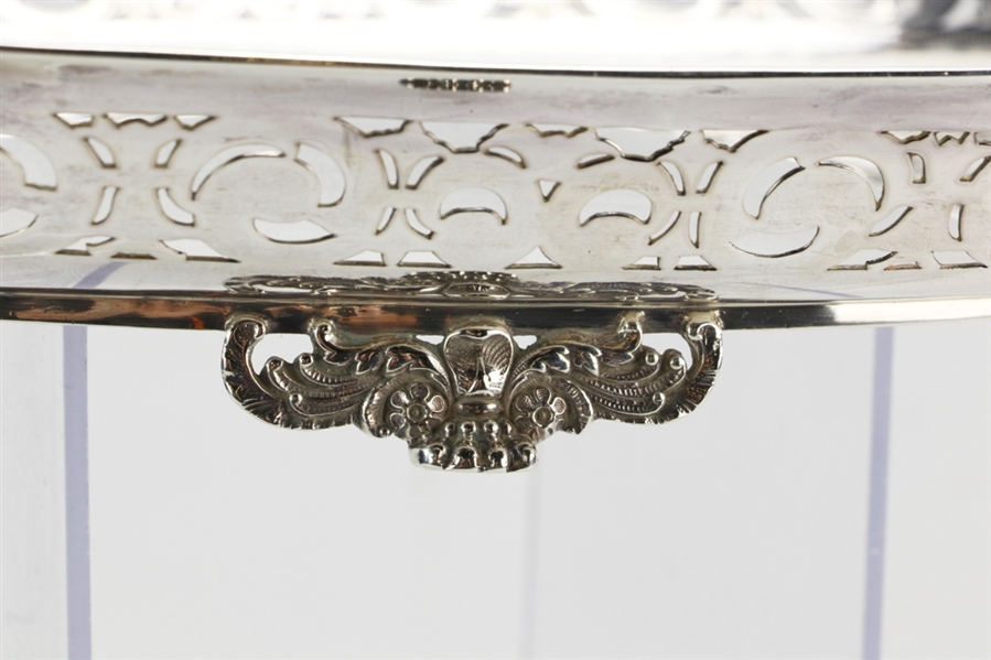 Antique Tiffany Sterling Reticulated Footed Tray