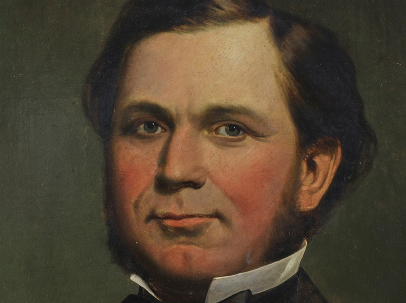 19thC Portrait of Samuel Orchard, Oil on Canvas