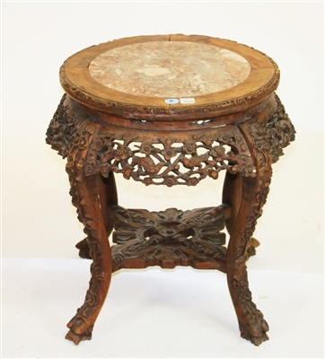 Chinese Marble Top Tabouret