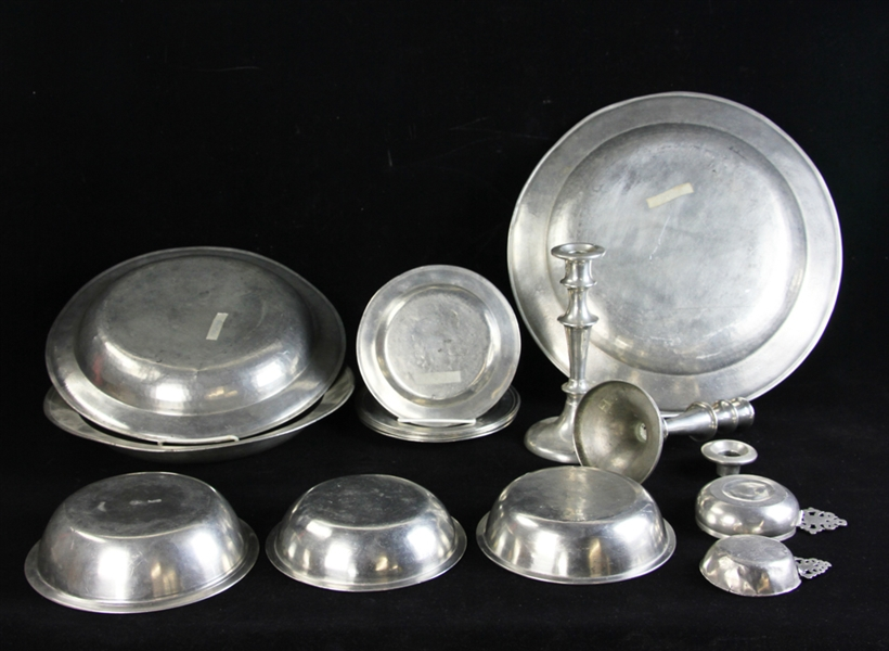 Collection of 18thC English and Colonial Pewter